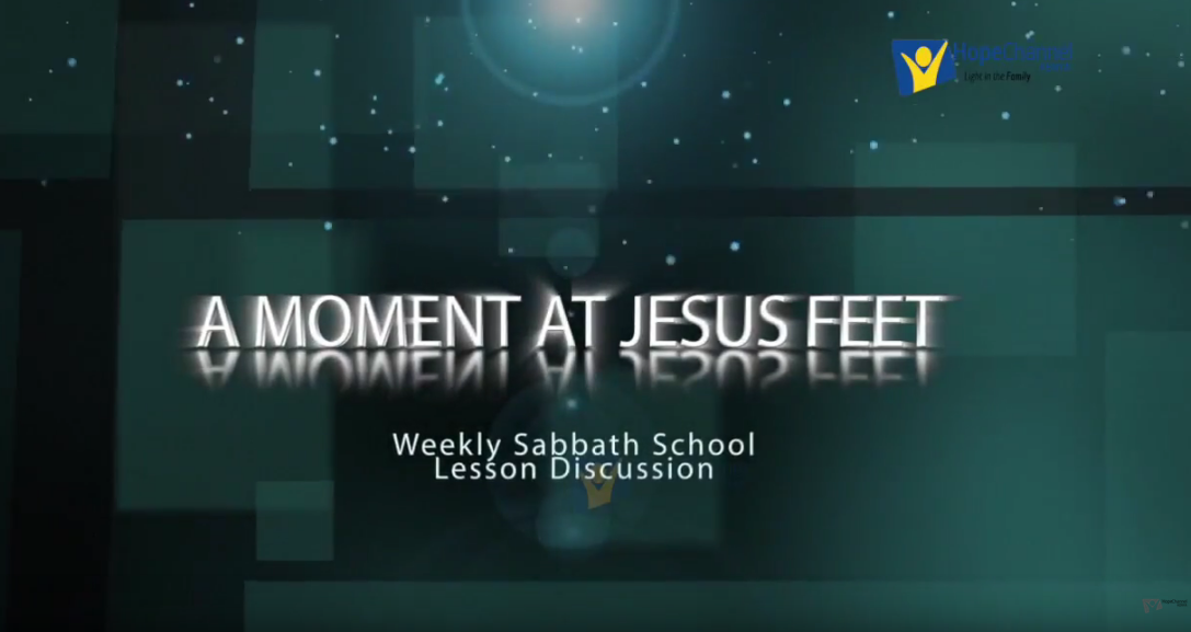 A moment at Jesus Feet